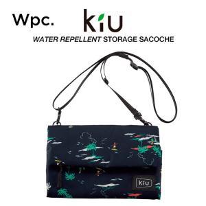 KiU サコッシュ ショルダーバッグ カードホルダー付 撥水防水 軽量 ストレージサコッシュ リゾー...