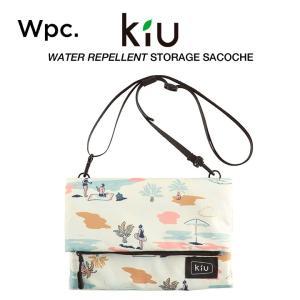 KiU サコッシュ ショルダーバッグ カードホルダー付 撥水防水 軽量 ストレージサコッシュ ビーチ...