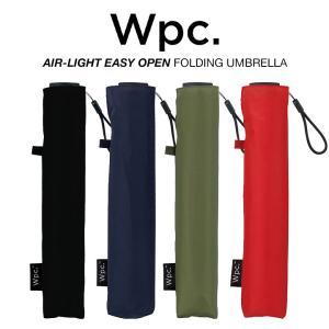 Wpc 折りたたみ傘 軽量 レディース メンズ 男女兼用 ポキポキしない エアライト イージーオープ...