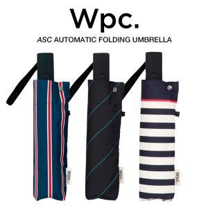 Wpc 折りたたみ傘 自動開閉 軽量 レディース メンズ 男女兼用 晴雨兼用傘 ボーダー ストライプ柄 UNISEX ASC Umbrella w.p.c ワールドパーティー MSJ|villagestore