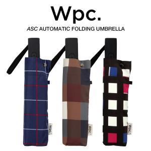 Wpc 折りたたみ傘 自動開閉 軽量 レディース メンズ 男女兼用 晴雨兼用傘 チェック ボーダー柄 UNISEX ASC Umbrella w.p.c ワールドパーティー MSJ|villagestore