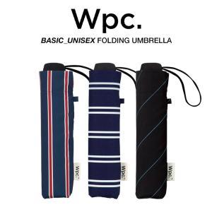 Wpc 折りたたみ傘 軽量 大きい58cm レディース メンズ 男女兼用 晴雨兼用傘  ドット ボー...