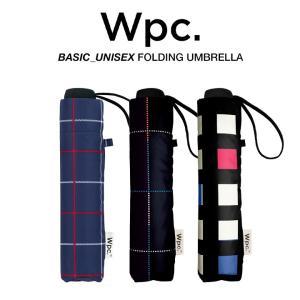 Wpc 折りたたみ傘 軽量 大きい58cm レディース メンズ 男女兼用 晴雨兼用傘 チェック柄 BASIC FOLDING UMBRELLA w.p.c ワールドパーティー MSM|villagestore