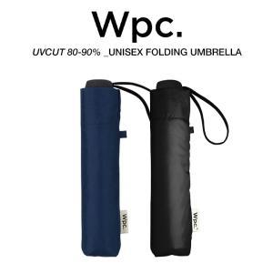 Wpc 折りたたみ傘 軽量 大きい58cm レディース メンズ 男女兼用 晴雨兼用傘 無地 BASIC FOLDING UMBRELLA w.p.c ワールドパーティー MSM|villagestore