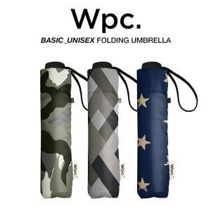Wpc 折りたたみ傘 軽量 大きい58cm レディース メンズ 男女兼用 晴雨兼用傘 チェック カモ柄 BASIC FOLDING UMBRELLA w.p.c ワールドパーティー MSM|villagestore