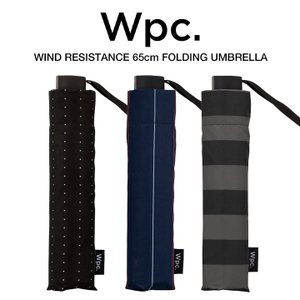 Wpc 折りたたみ傘 耐風傘 風に強い 大きい65cm傘 軽量 メンズ 男女兼用 ストライプ ボーダー柄 w.p.c ワールドパーティー MSZ|villagestore