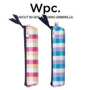 Wpc 折りたたみ傘 軽量 レディース 晴雨兼用傘 旅行用 キャンディチェック ミニ ポーチタイプ CANDY CHECK mini w.p.c ワールドパーティー 8175-239|villagestore