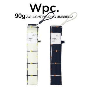 Wpc 折りたたみ傘 超軽量 90g レディース エアライト フラワーチェック Air-light Umbrella w.p.c ワールドパーティー AL-019|villagestore