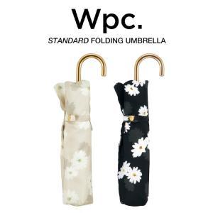 Wpc 折りたたみ傘 軽量 レディース 晴雨兼用傘 フローティングデイジー ミニ ゴールドハンドル スタンダード FLOATING DAISEIES mini Wpc. ワールドパーティー|villagestore