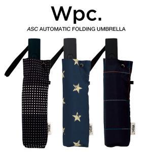 Wpc 折りたたみ傘 自動開閉 軽量 レディース メンズ 男女兼用 晴雨兼用傘 チェック ボーダー柄...
