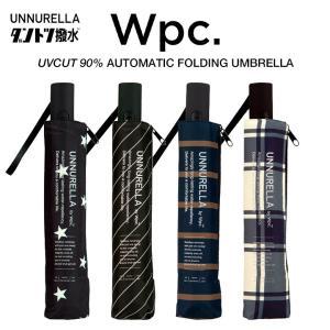 Wpc 折りたたみ傘 自動開閉 超撥水傘 大きい60cm 男女兼用傘 晴雨兼用傘 UVカット90% ダントツ撥水 アンヌレラ ASC 柄 Wpc. ワールドパーティー|villagestore