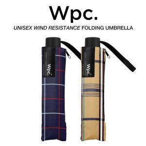 Wpc 折りたたみ傘 耐風傘 風に強い 大きい65cm傘 メンズ傘 チェック柄 Wpc. ワールドパーティー UX003|villagestore