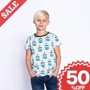子供服 半袖 Tシャツ おしゃれ 電車 乗り物 キッズ 男の子 トラム グレー 北欧 50%OFF|villervalla