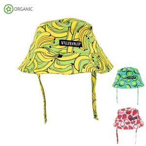 ベビー 帽子 ハット UV対策 キッズ フルーツ キウイ いちご バナナ|villervalla