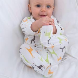 北欧 子供服 カバーオール ロンパース ベビー キリン柄 新生児 ギフト 出産祝い|villervalla