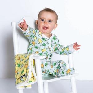 ロンパース カバーオール 新生児 ベビー服 足つき おしゃれ 北欧 カメさん柄 グレー オーガニックコットン TURTLE|villervalla