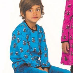 長袖Tシャツ フクロウTREE OWL 子供服 ブルー/ピンク 20%OFF|villervalla|02