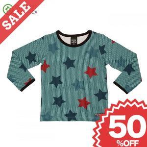 北欧 子供服 Tシャツ 長袖 星柄 スター 青 紫 オーガニックコットン|villervalla