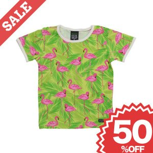 Tシャツ 子供服 おしゃれ キッズ ベビー 赤ちゃん 北欧 半袖 フラミンゴ オーガニック|villervalla