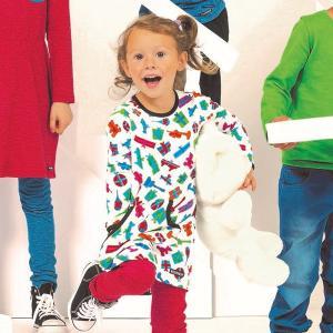 ワンピース プレゼント柄 リボン WRAPPED PRINT 女の子 クリスマス 北欧子供服|villervalla