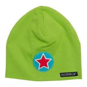 北欧 子供服 帽子 星ワンポイント 緑 villervalla