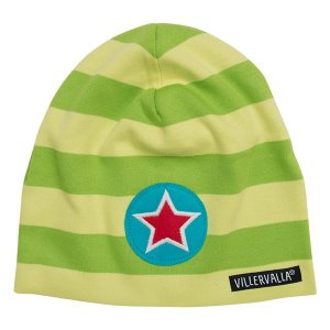 帽子 緑×黄色 APPLE/LIME villervalla