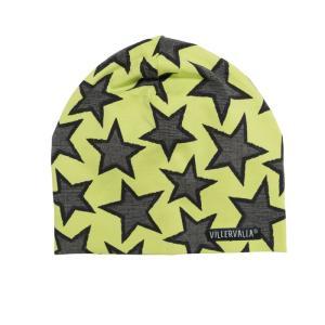 北欧 子供服 帽子 星柄 緑 villervalla