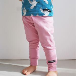北欧 子供服 レギンス キッズ ストレッチ ゆったり 全4色 ブルー ピンク 緑 黄色 オーガニックコットン|villervalla|02