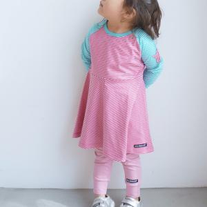 北欧 子供服 レギンス キッズ ストレッチ ゆったり 全4色 ブルー ピンク 緑 黄色 オーガニックコットン|villervalla|03
