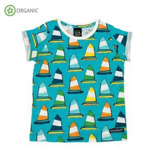 Tシャツ 半袖 子供服 キッズ ヨット柄 SAILBOAT PRINT|villervalla