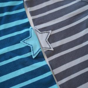 北欧 子供服 Tシャツ 長袖 ストライプ しましま 青/水色 グレー/ライトグレー オーガニックコットン|villervalla|02