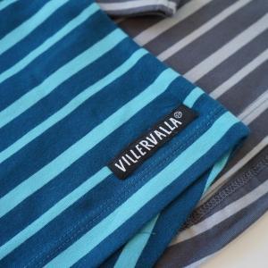 北欧 子供服 Tシャツ 長袖 ストライプ しましま 青/水色 グレー/ライトグレー オーガニックコットン|villervalla|03