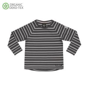 北欧 子供服 Tシャツ 長袖 ストライプ しましま 青/水色 グレー/ライトグレー オーガニックコットン|villervalla|05