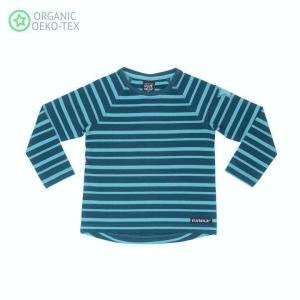 北欧 子供服 Tシャツ 長袖 ストライプ しましま 青/水色 グレー/ライトグレー オーガニックコットン|villervalla|06