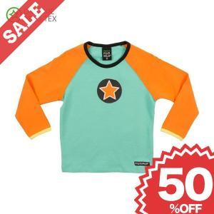 北欧 子供服 Tシャツ 長袖 緑/オレンジ HOLIDAY/PEACH|villervalla