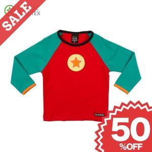 長袖Tシャツ 赤/緑 STRAWBERRY/TURQUOISE 子供服|villervalla