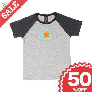 北欧 子供服 Tシャツ 半袖 星 グレー/黒 GREY MELANGE/GRAPHITE|villervalla