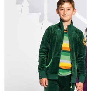 【20%OFF】北欧 子供服 ジャケット ベロア 星マーク 紫 緑|villervalla