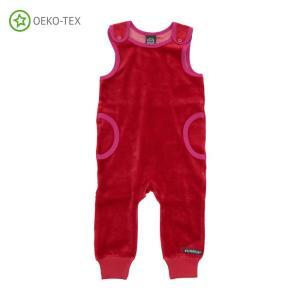 北欧 子供服 プレイスーツ ベロア ベビー 青 赤 新生児 ギフト 出産祝い|villervalla