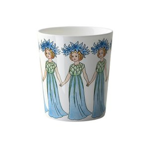 北欧 マグカップ cornflower(ヤグルマギク) ハンドル無し 花柄 妖精 エルサベスコフ 食器 母の日|villervalla