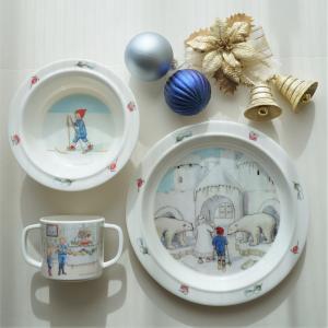 幼児用食器 3点セット  Olle ウッレのスキー旅行  出産祝い ベビーギフト エルサベスコフ|villervalla