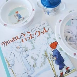 幼児用食器 3点セット  Olle ウッレのスキー旅行  出産祝い ベビーギフト エルサベスコフ|villervalla|02