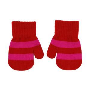ミトン手袋 ボーダー柄 青PACIFIC/赤PAPRIKA 1-3歳 ベビー しましま|villervalla