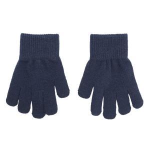 ニット手袋 紺色 NAVY|villervalla