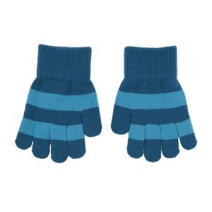 ニット手袋 ボーダー 青PACIFIC/赤MOSAIC 4-7歳/8-12歳|villervalla