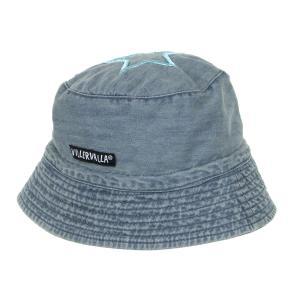 ハット 帽子 UVカット デニムx青  46-56cm 1歳-12歳 MIDWASH/RIVIERA|villervalla