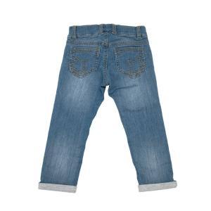 スウェットスリムパンツ WASHED デニム風 ストレッチ 長ズボン 子供服 |villervalla|02