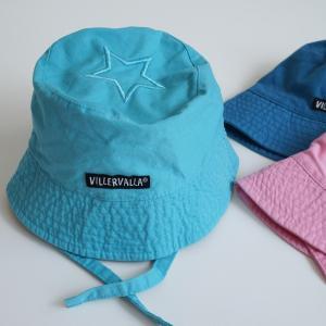 ベビー 帽子 北欧 キッズ  UVカット 青 水色 ピンク  6ヶ月-1歳用|villervalla
