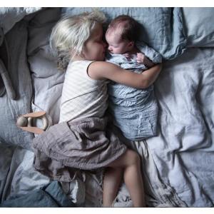 掛け布団カバー 枕カバー付 100×130cm 麻100% スウェーデン製 ブルー ピンク アイボリー NGbaby MOOD|villervalla