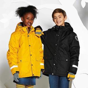キッズ スキーウェア 防水ウインタージャケット 全4色 青 紫 黄色 黒|villervalla|02